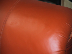 Leather Sofa Repair - Tear repair after