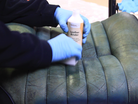 How to restore a leather car interior - repairing damage to leather