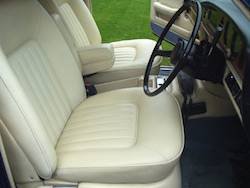 Leather Car Interior Restoration - Completely Restored, cracking repair and recoloured.