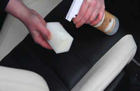 Cleaning Leather with Leather Cleaner