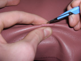 How To Repair a Cut In Leather