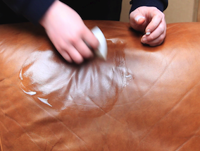 Removing Grease From Leather - Step 1. Cleaning