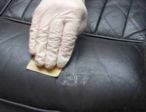 How to Fix Scuffs and Scratches on Leather - Sanding Filler Smooth
