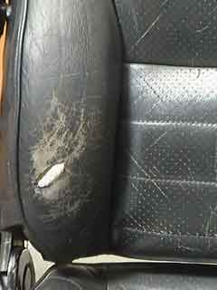 How To Fix A Hole In Leather Car Seat