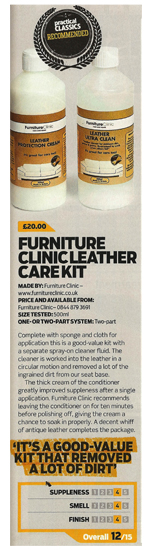 Practical Classics Recommend our Leather Care Kit