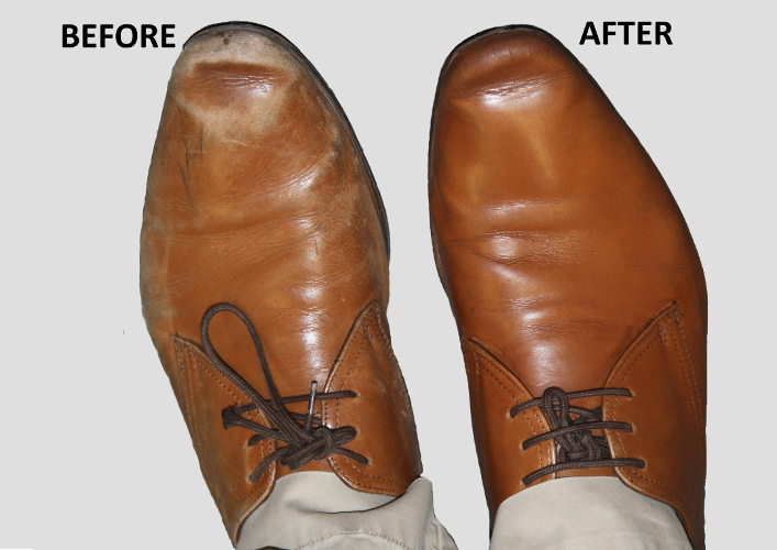Restore White Leather Shoes