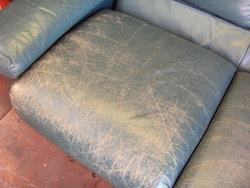 Leather Sofa Restoration - Colour Loss & Cracking