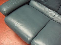 Leather Sofa Restoration After - Cracking Repair and Colour Replacement