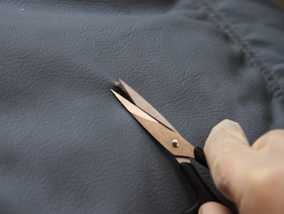 How to repair a tear in leather 2