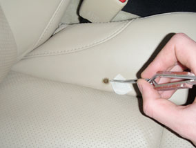 Leather Car Seat Cigarette Burn Repair