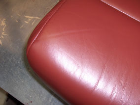 Coloured Leather Seat Close Up