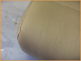 How to change the colour of a leather sofa guide - seat after prepping