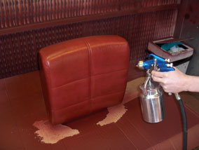 How to change the colour of a leather sofa for Change furniture color