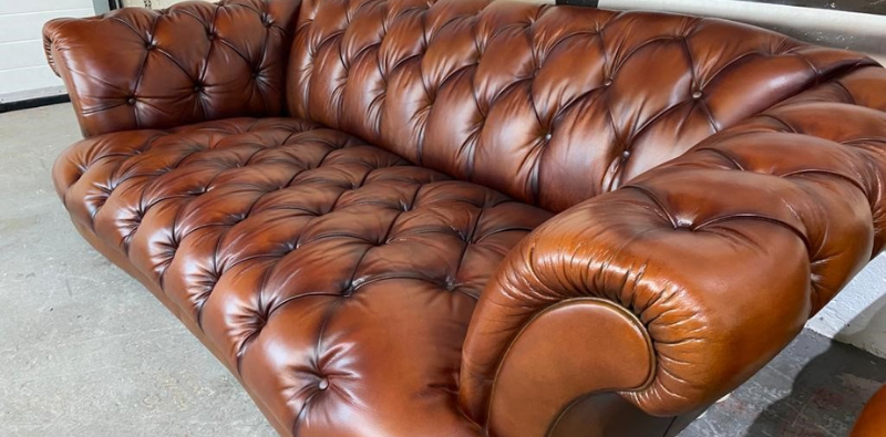 Leather Polish used on Chesterfield Sofa