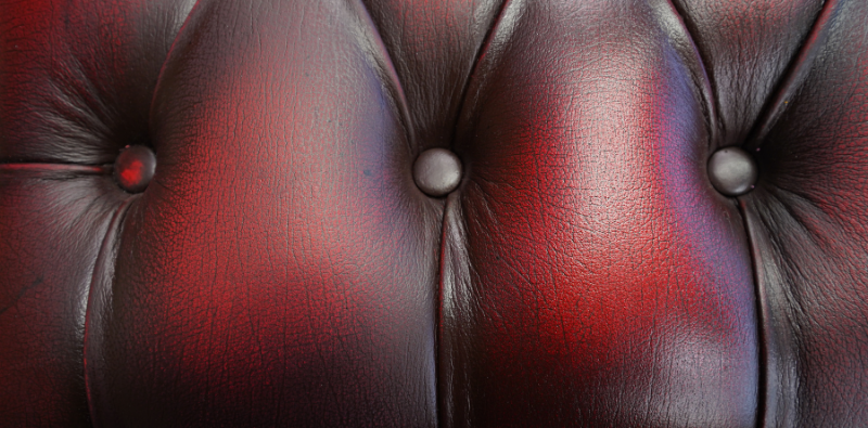 Close-up of Leather Polish on two-toned leather