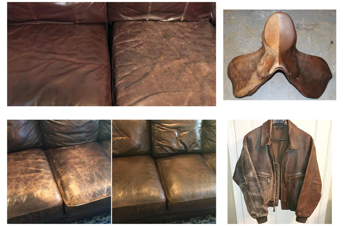 Dark Brown Leather Balm Results