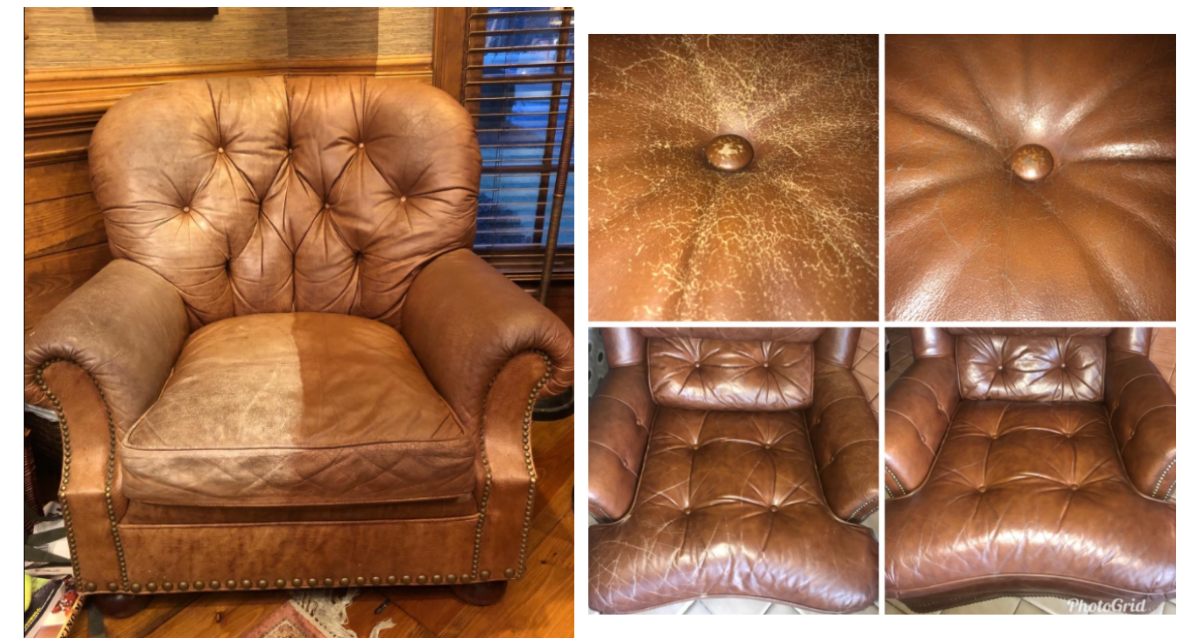 Medium Brown Leather Balm Results
