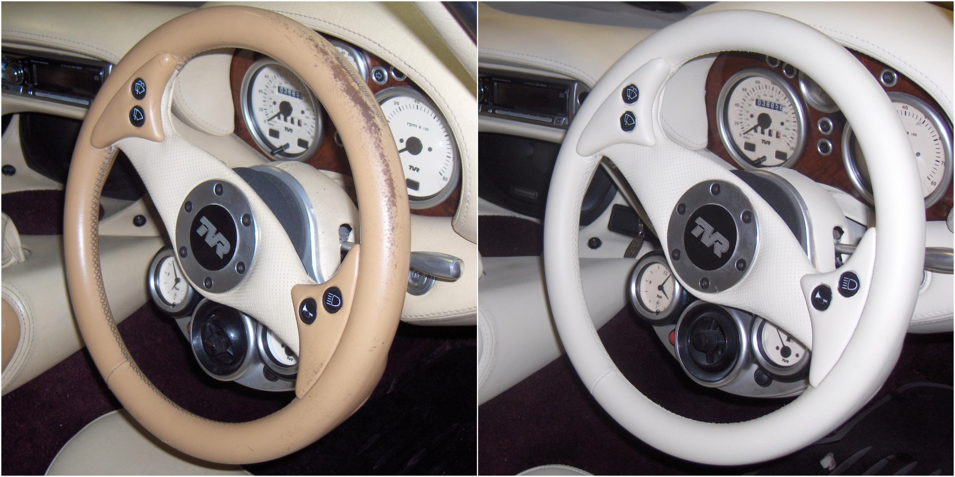Leather Steering Wheel Repair Results