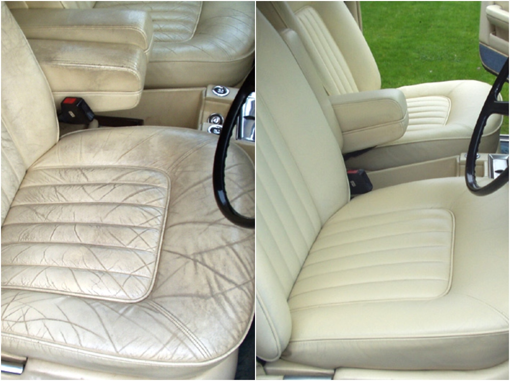 Car interior leather restoration