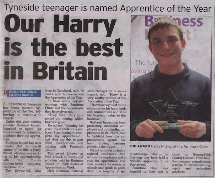 Harry Nichol - Apprentice of the year