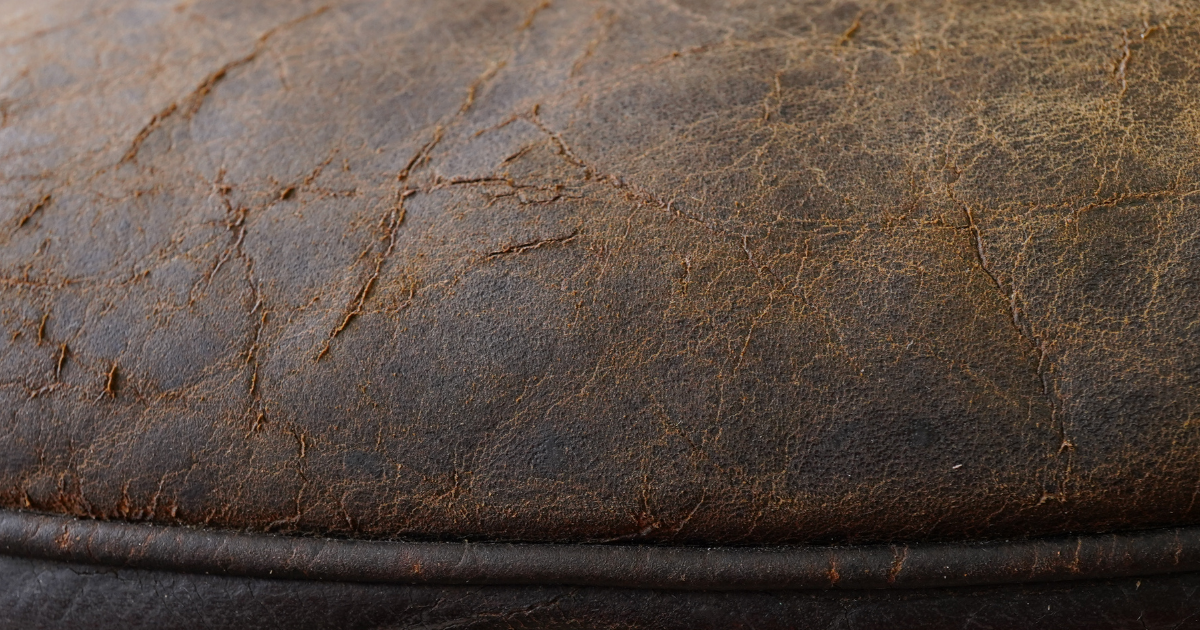 Cracked and brittle leather