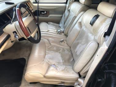 Leather Cop Car Interior Retrim - Before