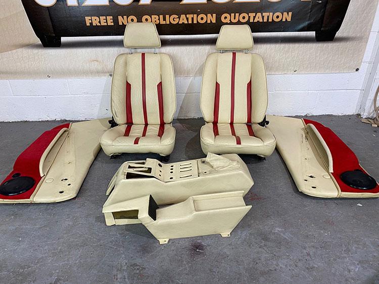 Leather Ferrari Interior Repair & Restoration - Before