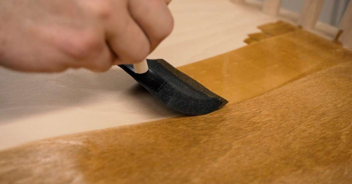 Wood Stain being applied to wood