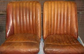 Leather Car Interior Colour Change - Before