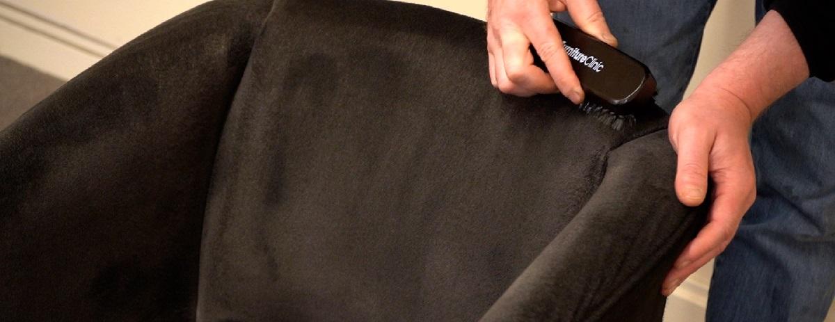 brush to soften the fabric paint