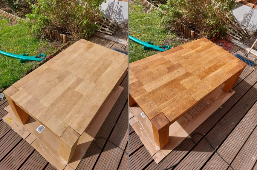 table with danish oil