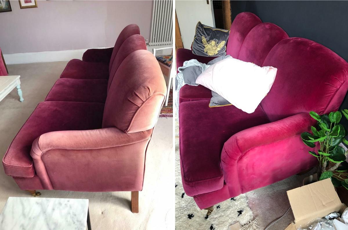 Fabric Paint Sofa