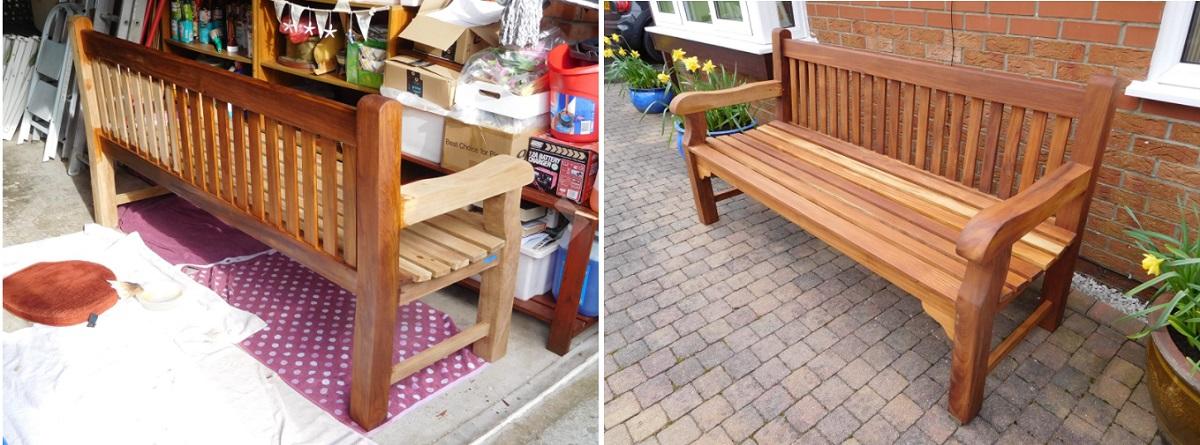 Teak Oil on garden furniture