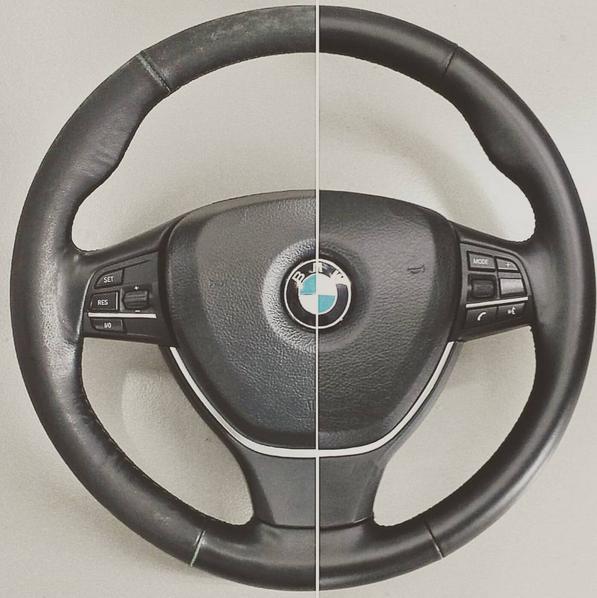 Half Restored Leather Steering Wheel
