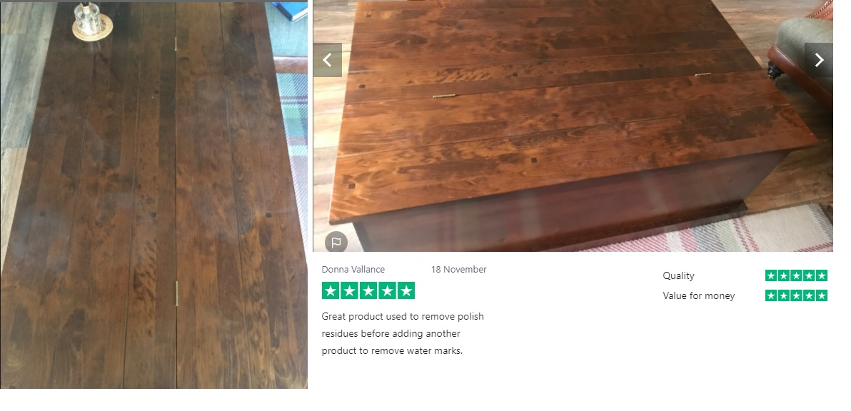 Using wood cleaner results